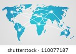 world map   concept of global... | Shutterstock .eps vector #110077187