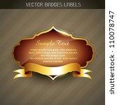 vector golden label with space... | Shutterstock .eps vector #110078747