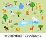 zoo | Shutterstock .eps vector #110080043