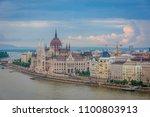 before sunset in budapest ... | Shutterstock . vector #1100803913