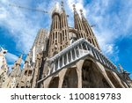 the cathedral of la sagrada... | Shutterstock . vector #1100819783