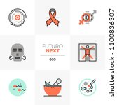 modern flat icons set of human... | Shutterstock .eps vector #1100836307