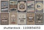 vintage car service brochures...   Shutterstock .eps vector #1100856053