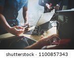 machine learning technology... | Shutterstock . vector #1100857343
