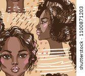 african american beautiful... | Shutterstock .eps vector #1100871203