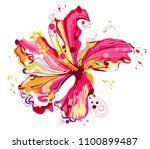 graphic floral create from... | Shutterstock .eps vector #1100899487