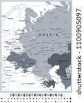 eastern europe political map... | Shutterstock .eps vector #1100905097