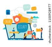 online security  data... | Shutterstock .eps vector #1100928977