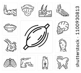 set of 13 simple editable icons ... | Shutterstock .eps vector #1100930813