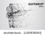 particle guitarist. the... | Shutterstock .eps vector #1100938343