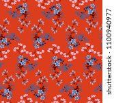 seamless floral pattern in... | Shutterstock .eps vector #1100940977