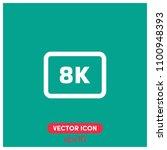 8k video format symbol vector...