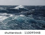 Waves in ocean - stock photo