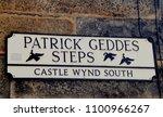 tourist sign for patrick geddes ...   Shutterstock . vector #1100966267