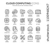 cloud computing. internet... | Shutterstock .eps vector #1100968247