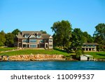 American Lakeside Villa With...