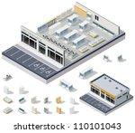 vector isometric diy... | Shutterstock .eps vector #110101043