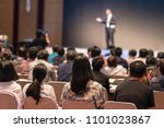 rear side of audiences sitting... | Shutterstock . vector #1101023867