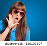 woman with mouth open isolated... | Shutterstock . vector #110103107