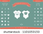 baby rompers icon | Shutterstock .eps vector #1101053153