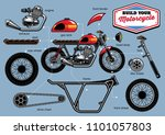 build your cafe racer concept... | Shutterstock .eps vector #1101057803