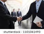 successful negotiating business ... | Shutterstock . vector #1101061493