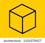 cube vector icon | Shutterstock .eps vector #1101070427