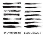 set of grunge brush strokes... | Shutterstock .eps vector #1101086237