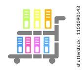 vector book cart illustration   ... | Shutterstock .eps vector #1101090143