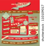 vintage web design elements 3 | Shutterstock .eps vector #110109017