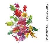 vintage vector floral... | Shutterstock .eps vector #1101096857