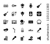 audio icon. collection of 25... | Shutterstock .eps vector #1101111383