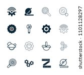 mechanical icon. collection of... | Shutterstock .eps vector #1101128297