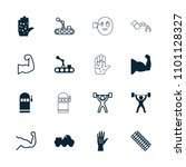 arm icon. collection of 16 arm... | Shutterstock .eps vector #1101128327