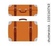 icon of the suitcase  bag ... | Shutterstock .eps vector #1101163763