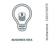 bussines idea icon. flat style...