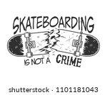 vintage skateboarding logotype... | Shutterstock .eps vector #1101181043