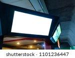 smart led tv white screen in...   Shutterstock . vector #1101236447