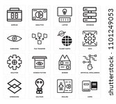 set of 16 icons such as comic ...