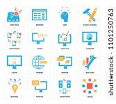 set of 16 icons such as resize  ...