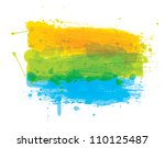 grungy colored banner ready for ... | Shutterstock .eps vector #110125487