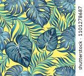 seamless tropica vector pattern ... | Shutterstock .eps vector #1101278687