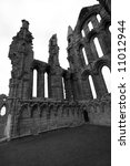 Historic Whitby Abbey In Black...