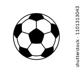 soccer ball icon. flat vector... | Shutterstock .eps vector #1101313043