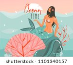 hand drawn vector abstract... | Shutterstock .eps vector #1101340157