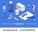pharmacy concept with... | Shutterstock .eps vector #1101349943