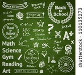 back to school hand drawn text... | Shutterstock .eps vector #110135273
