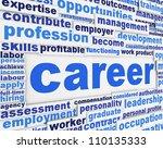 career poster design. future... | Shutterstock . vector #110135333