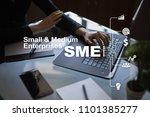 sme  small and medium sized... | Shutterstock . vector #1101385277