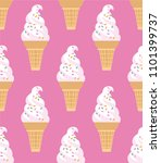 ice cream seamless pattern.... | Shutterstock .eps vector #1101399737